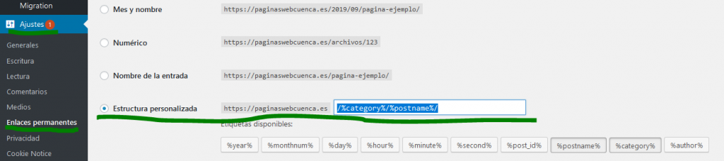 Estructura Web WordPress