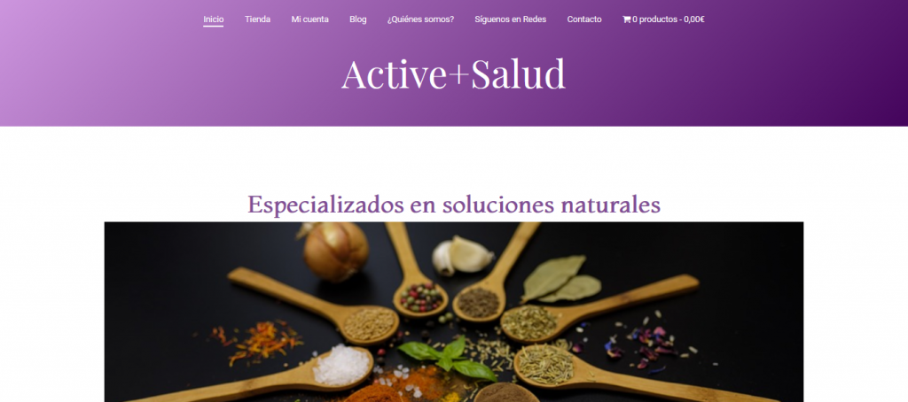 Ejemplo de página web ActivePlusSalud